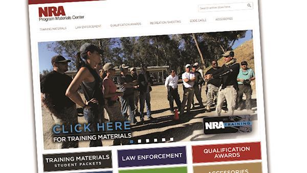 NRA Program Materials Web Site Screen Cap