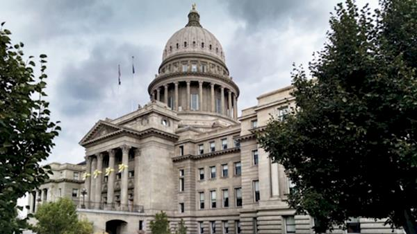Idaho State Capitol Building on a Cloudy Day